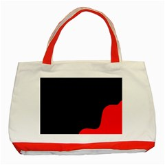 Black And Red Classic Tote Bag (red)