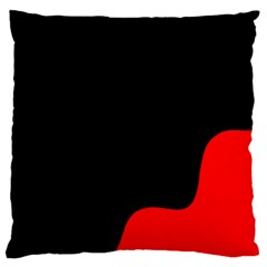 Black And Red Large Cushion Case (two Sides)