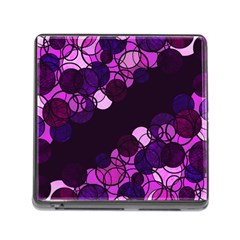 Purple bubbles Memory Card Reader (Square)