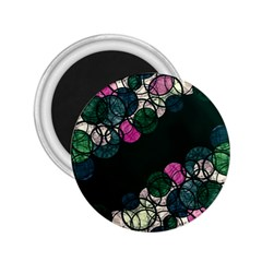 Green and pink bubbles 2.25  Magnets