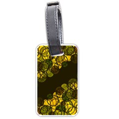 Yellow bubbles Luggage Tags (One Side)