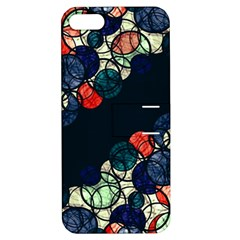 Orange And Blue Bubbles Apple Iphone 5 Hardshell Case With Stand