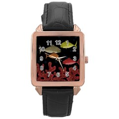 Corals Rose Gold Leather Watch