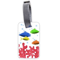 Corals and fish Luggage Tags (One Side)