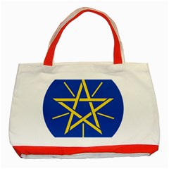 National Emblem Of Ethiopia Classic Tote Bag (red)