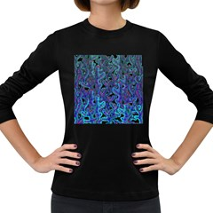 Blue coral Women s Long Sleeve Dark T-Shirts