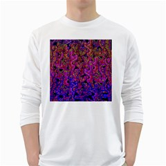 Purple corals White Long Sleeve T-Shirts