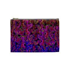 Purple corals Cosmetic Bag (Medium)