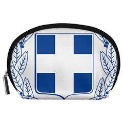 Coat Of Arms Of Greece Accessory Pouches (large)