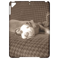 American Pit Bull Terrier And Teddy Bear On Couch Apple iPad Pro 9.7   Hardshell Case
