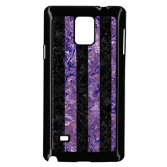 Stripes1 Black Marble & Purple Marble Samsung Galaxy Note 4 Case (black)