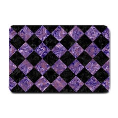 Square2 Black Marble & Purple Marble Small Doormat