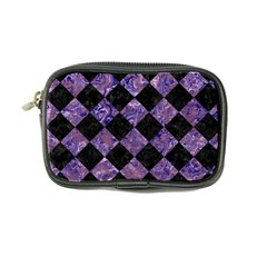 Square2 Black Marble & Purple Marble Coin Purse