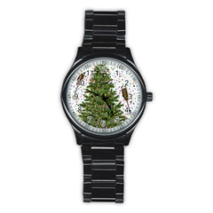 New Year S Eve New Year S Day Stainless Steel Round Watch