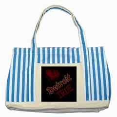 Dcldtv1 Striped Blue Tote Bag