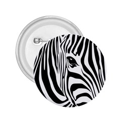 Animal Cute Pattern Art Zebra 2 25  Buttons