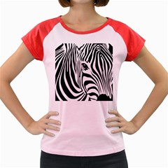 Animal Cute Pattern Art Zebra Women s Cap Sleeve T Shirt