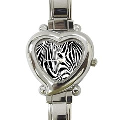 Animal Cute Pattern Art Zebra Heart Italian Charm Watch