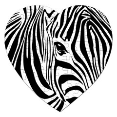 Animal Cute Pattern Art Zebra Jigsaw Puzzle (heart)