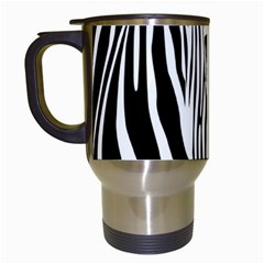 Animal Cute Pattern Art Zebra Travel Mugs (white)