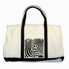 Animal Cute Pattern Art Zebra Two Tone Tote Bag