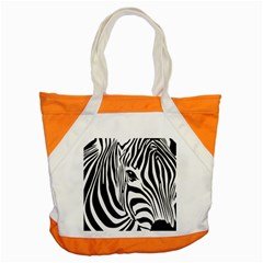 Animal Cute Pattern Art Zebra Accent Tote Bag