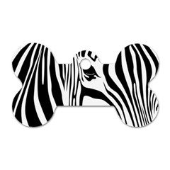 Animal Cute Pattern Art Zebra Dog Tag Bone (one Side)