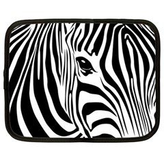 Animal Cute Pattern Art Zebra Netbook Case (Large)