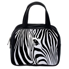 Animal Cute Pattern Art Zebra Classic Handbags (one Side)