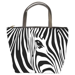 Animal Cute Pattern Art Zebra Bucket Bags