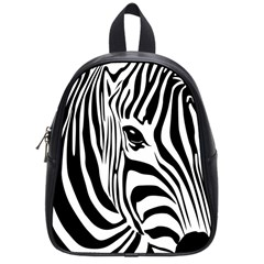 Animal Cute Pattern Art Zebra School Bags (small)