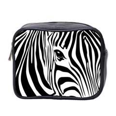 Animal Cute Pattern Art Zebra Mini Toiletries Bag 2 Side