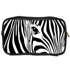 Animal Cute Pattern Art Zebra Toiletries Bags 2-Side
