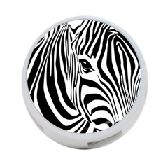 Animal Cute Pattern Art Zebra 4 Port Usb Hub (two Sides)