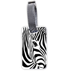 Animal Cute Pattern Art Zebra Luggage Tags (one Side)