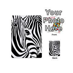 Animal Cute Pattern Art Zebra Playing Cards 54 (mini)