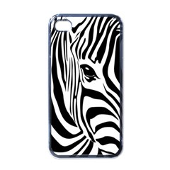 Animal Cute Pattern Art Zebra Apple Iphone 4 Case (black)