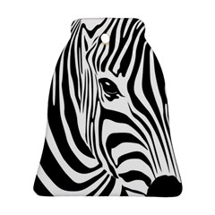 Animal Cute Pattern Art Zebra Ornament (bell)