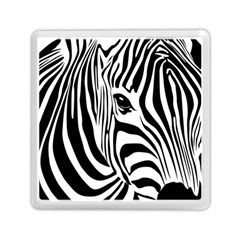 Animal Cute Pattern Art Zebra Memory Card Reader (square)