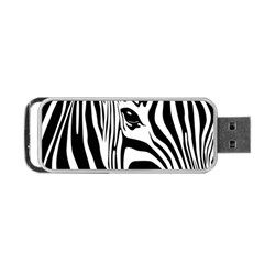 Animal Cute Pattern Art Zebra Portable Usb Flash (one Side)