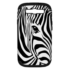 Animal Cute Pattern Art Zebra Samsung Galaxy S Iii Hardshell Case (pc+silicone)