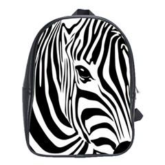Animal Cute Pattern Art Zebra School Bags (xl)