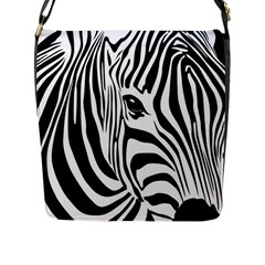 Animal Cute Pattern Art Zebra Flap Messenger Bag (l)