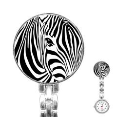 Animal Cute Pattern Art Zebra Stainless Steel Nurses Watch