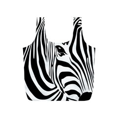 Animal Cute Pattern Art Zebra Full Print Recycle Bags (s)
