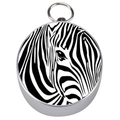 Animal Cute Pattern Art Zebra Silver Compasses
