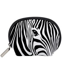 Animal Cute Pattern Art Zebra Accessory Pouches (small)