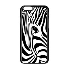 Animal Cute Pattern Art Zebra Apple Iphone 6/6s Black Enamel Case