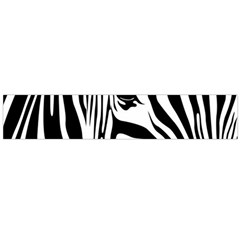 Animal Cute Pattern Art Zebra Flano Scarf (large)
