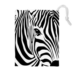Animal Cute Pattern Art Zebra Drawstring Pouches (extra Large)